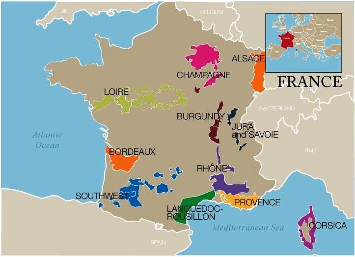 các vùng rượu vang pháp