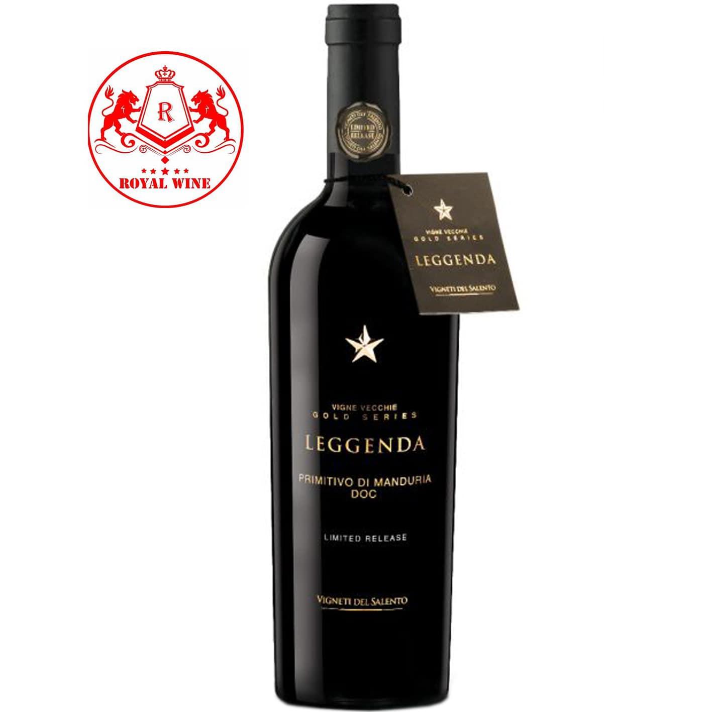 Rượu vang LEGGENDA Primitivo Di Manduria