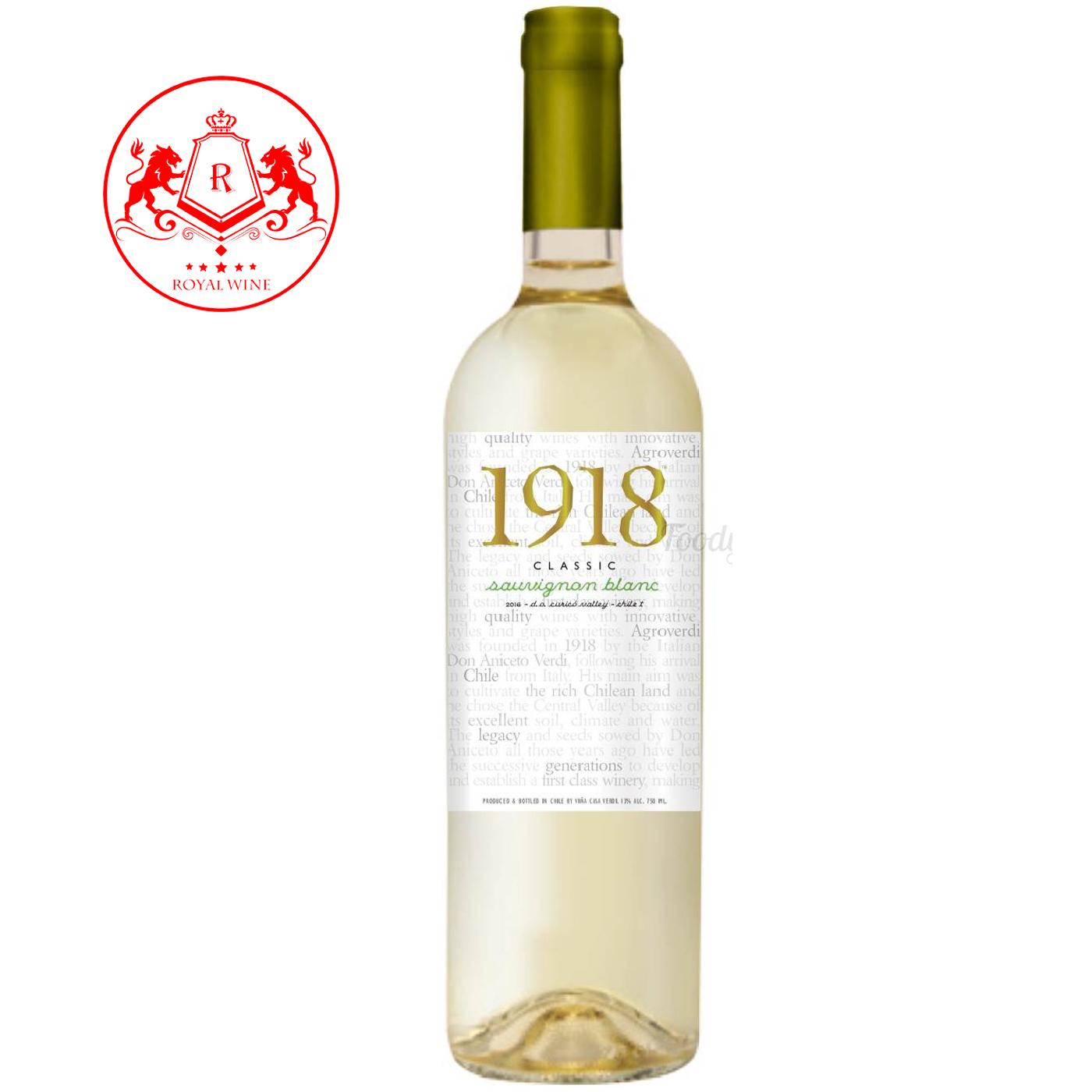 Rượu vang 1918 Classic Sauvignon Blanc