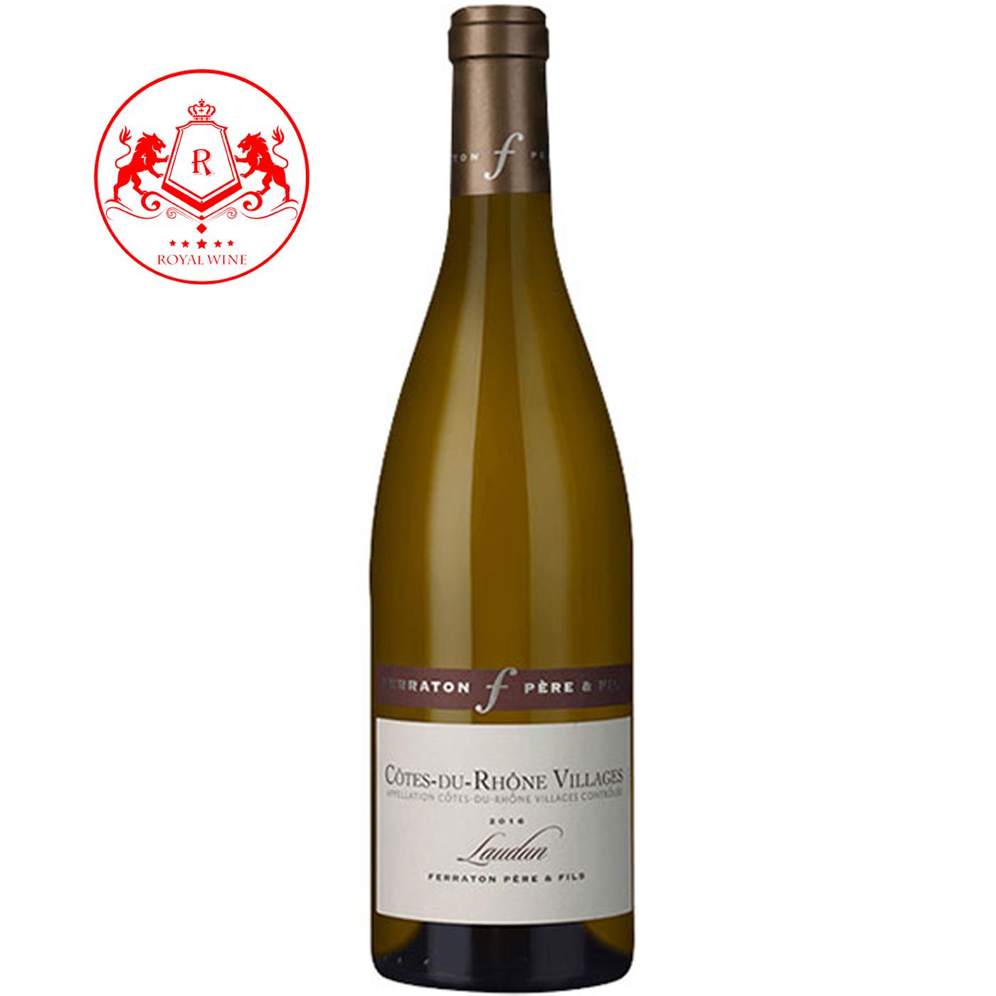 Rượu vang COTES du RHONE VILLAGES Laudun