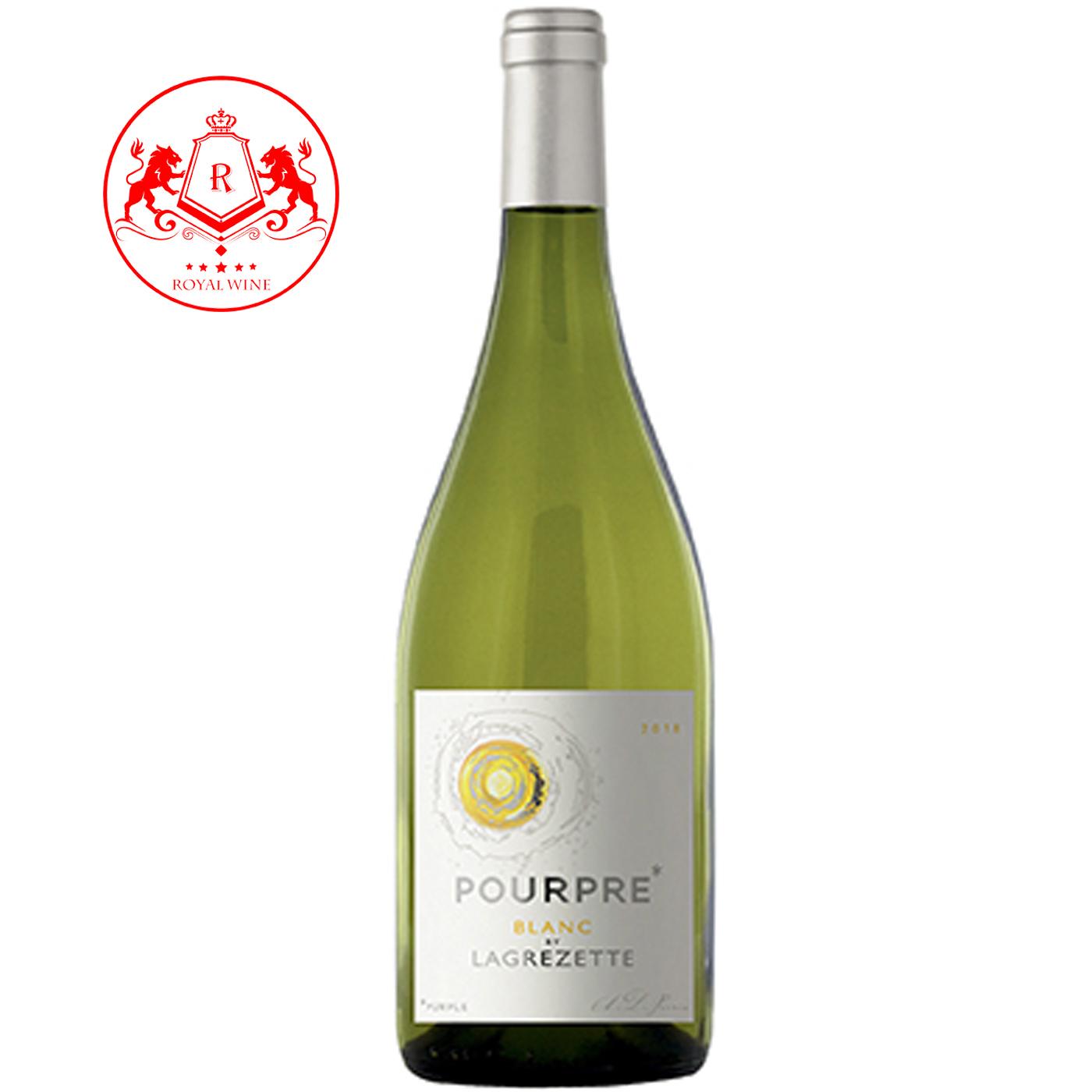 Rượu vang POURPRE de Grezette Blanc