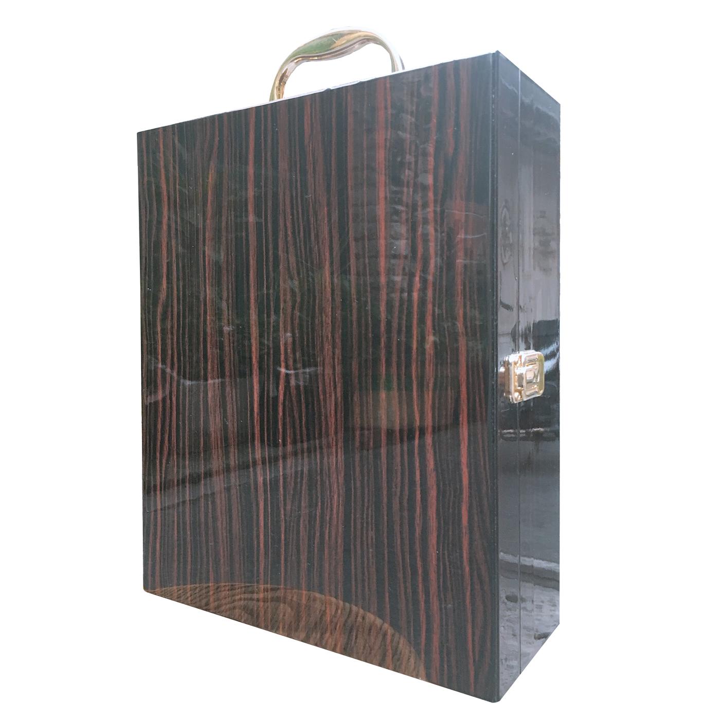 Hộp gỗ đôi sơn mài 054