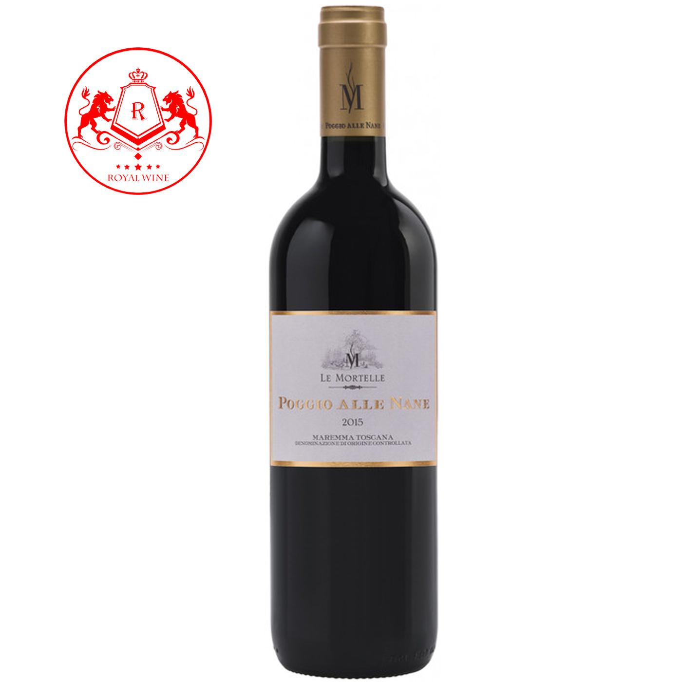 Rượu vang Le Mortelle POGGIE ALLE NAME Maremma Toscana