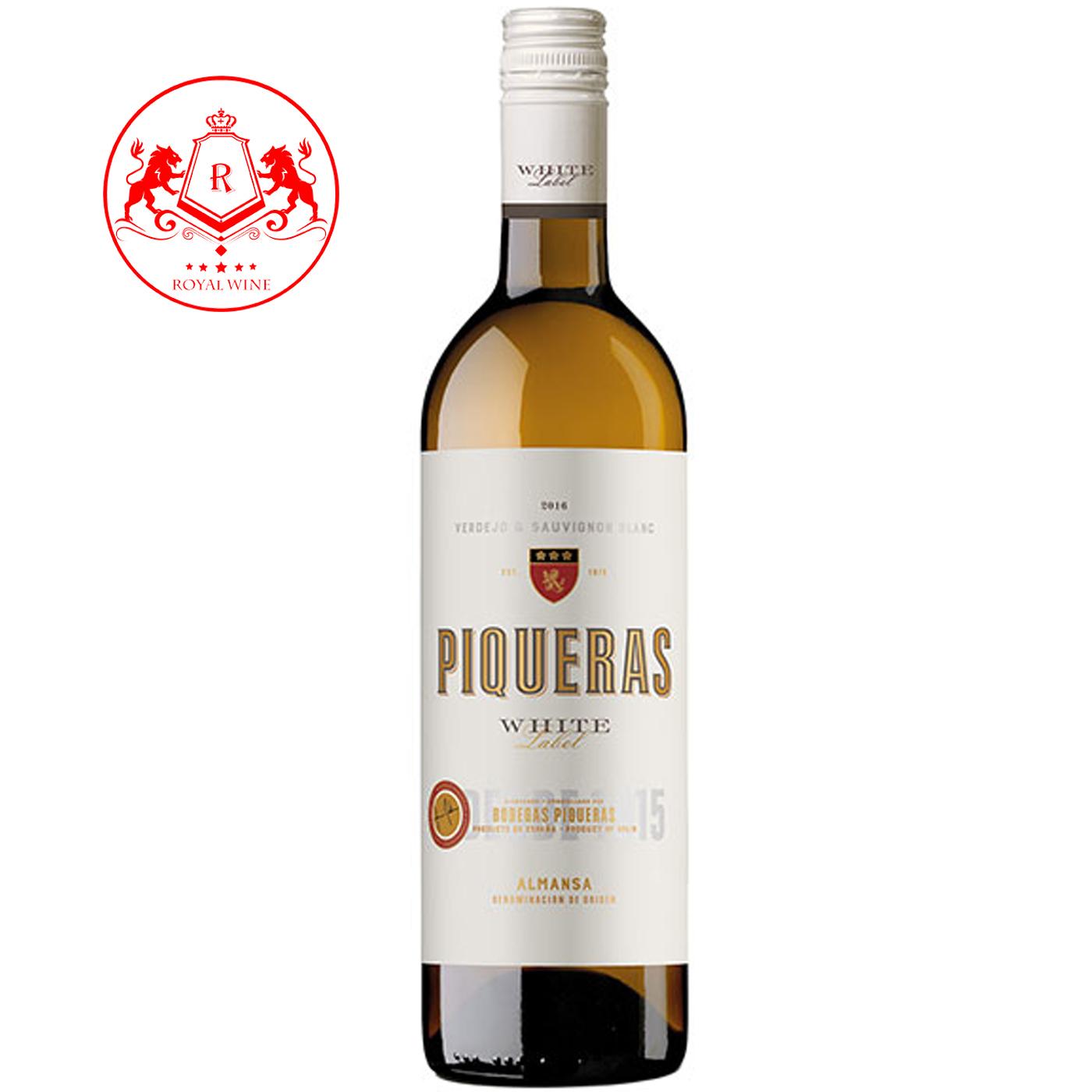 Rượu vang PIQUERAS White Lable