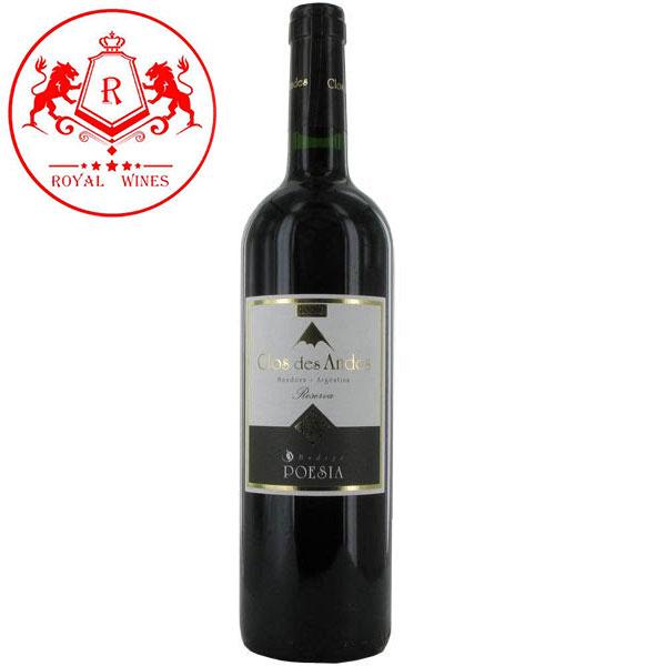 Rượu Vang Vin'd Argentine Clos Des Andes